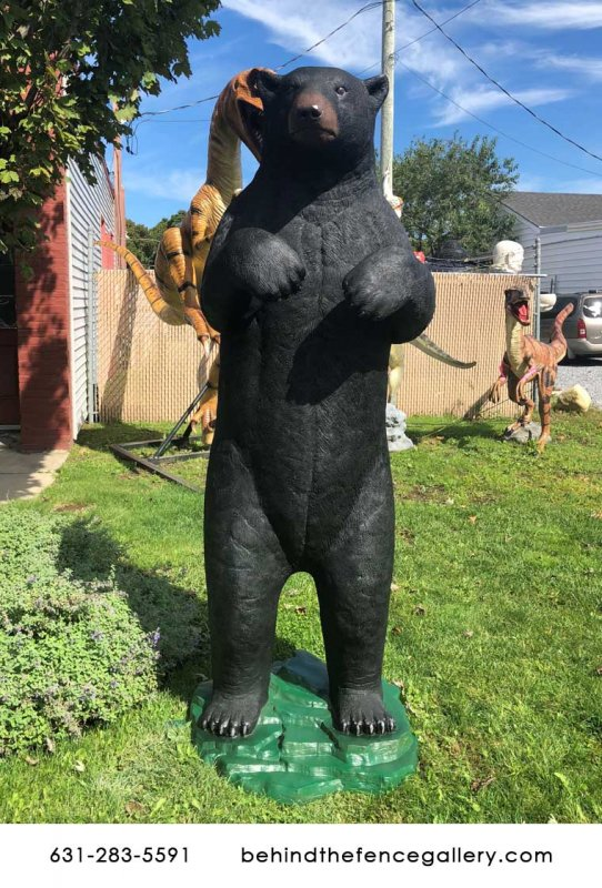 Standing Grizzly Bear Statue