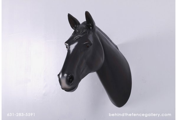 Black Horse Head Wall Mount