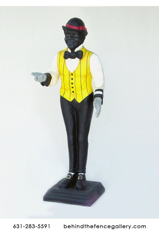 Black Male Butler Statue
