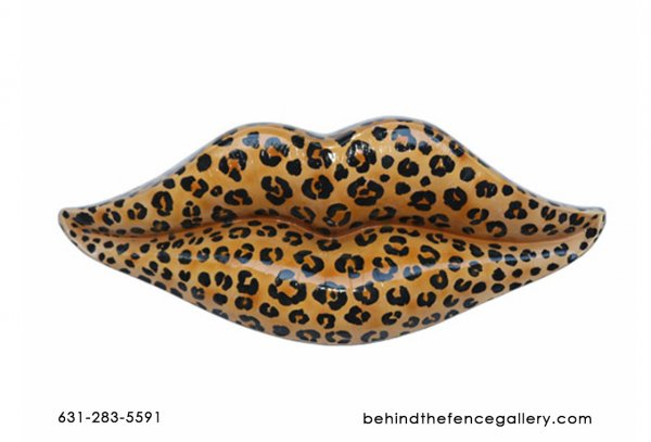 Leopard Lips Wall Decor