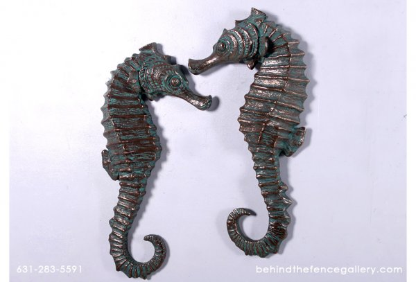 "Seahorse 24"" (Set of 2) in Bronze Finish"
