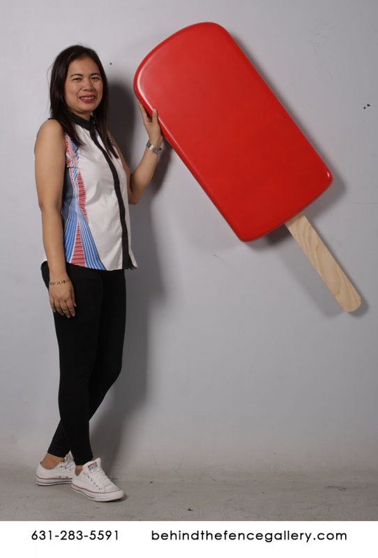 Giant Wall Hanging Cherry Ice Cream Popsicle Statue