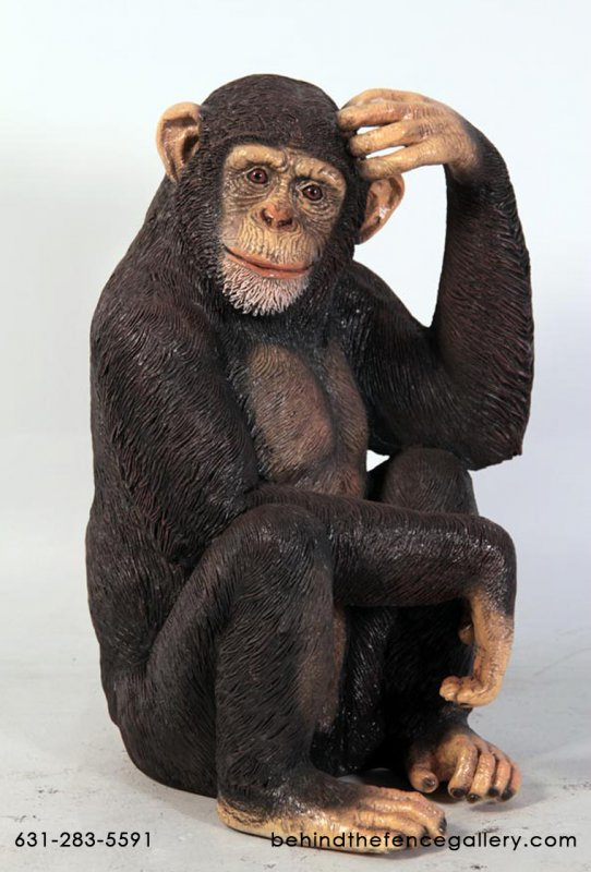 Sitting Chimp Statue