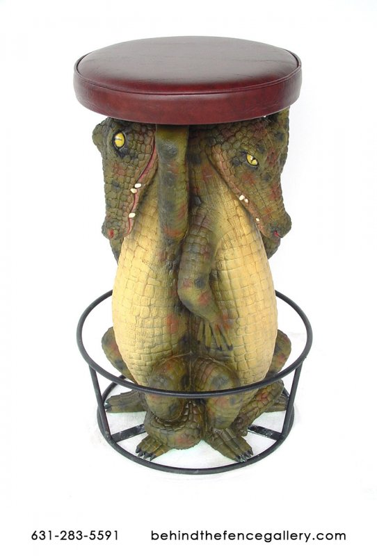 Crocodile Bar Stool