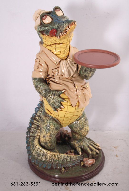Crocodile Butler Statue - 3ft.