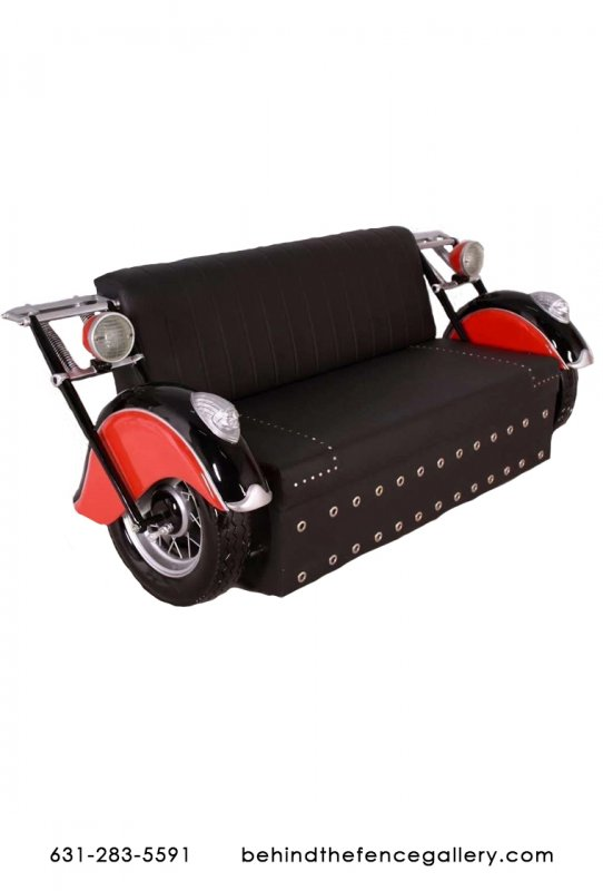 Indian Motorcycle Couch Loveseat Fiberglass Statue