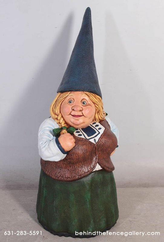 Female Gnome Statue