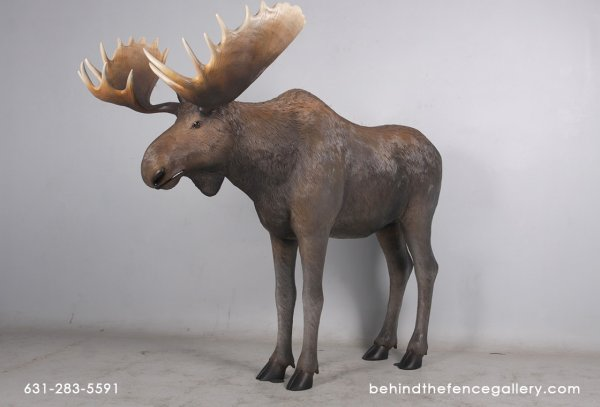 Life Size Moose Statue