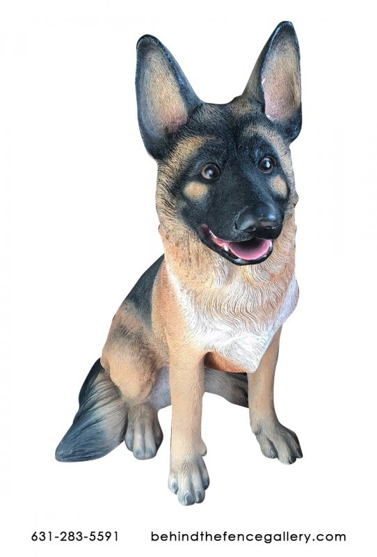 Jumbo German Shepherd Puppy Statue