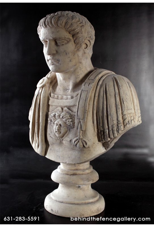 Gladiator Bust Statue