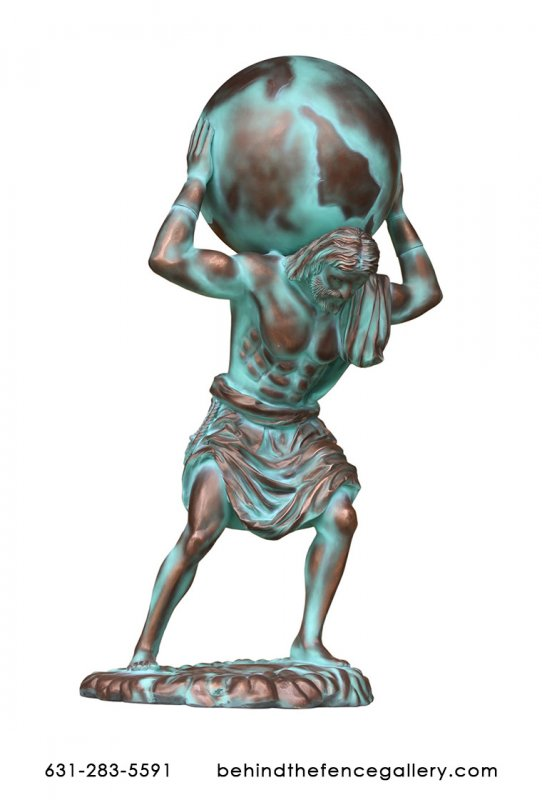 Atlas Statue in Bronze Finish