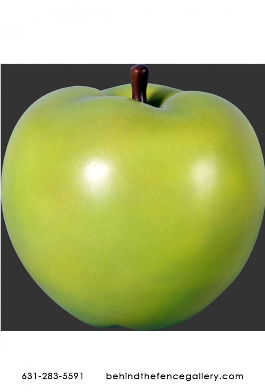 SMALL GREEN GRANNY SMITH APPLE LIFE SIZE FAKE FOOD