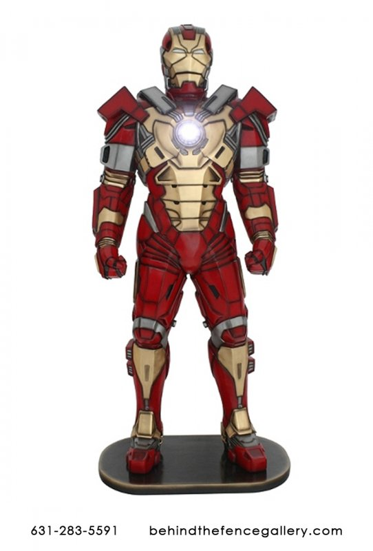Iron Man with Working Chest Light Statue