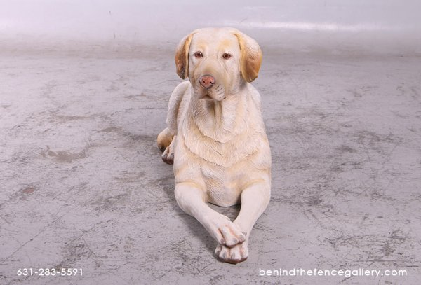 Yellow Labrador Statue - Laying Down