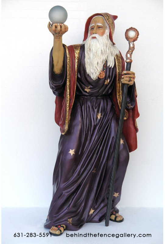 Merlin The Magician Statue -6ft.