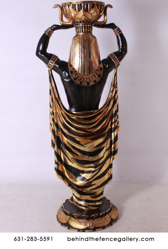 Egyptian Male Plant Pot Holder Life Size Statue