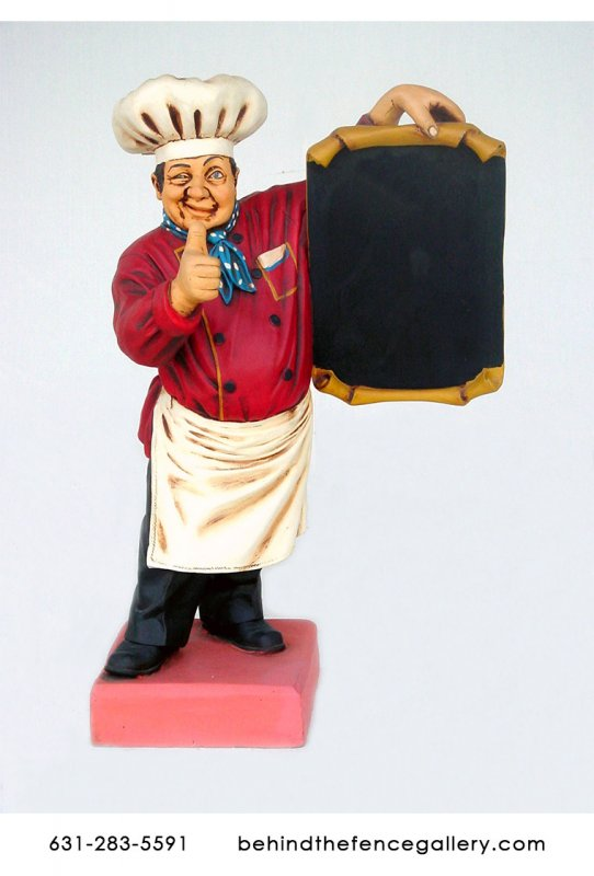 Male Chef Statue - 6ft