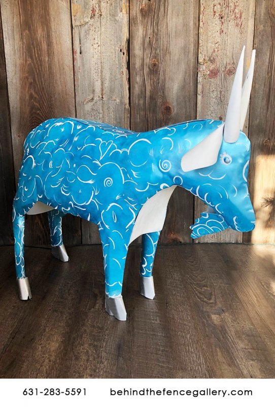 Recycled Metal Goat Statue - Custom 2