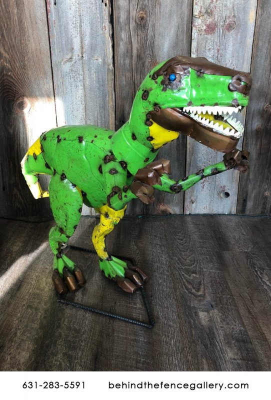 Recycled Metal Raptor Statue
