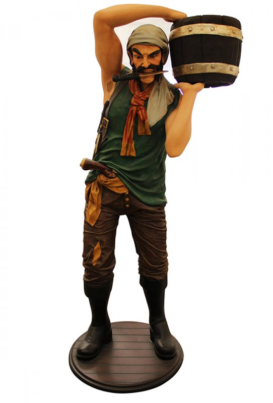 PIRATE WITH BARREL STATUE TYPE B