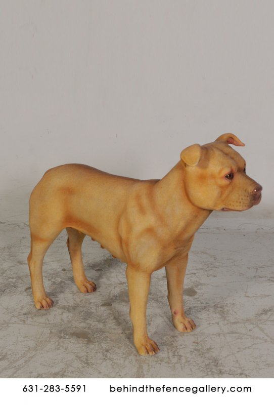 Female Pitbull Statue