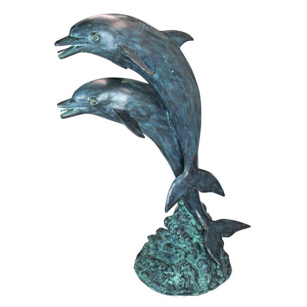 Bronze Two Dolphins Fountain