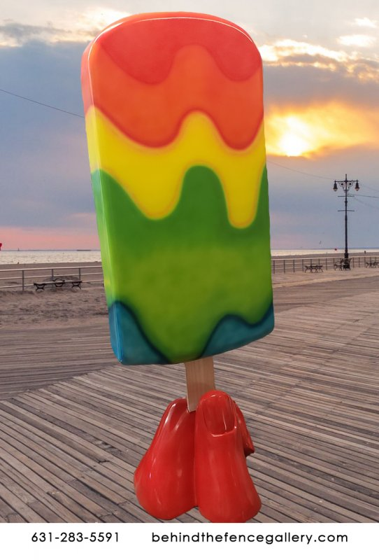 6 ft Tall Tye Die Popsicle Statue