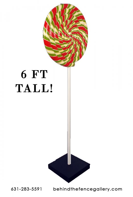 Red & Green Swirl Pop 6 Ft.