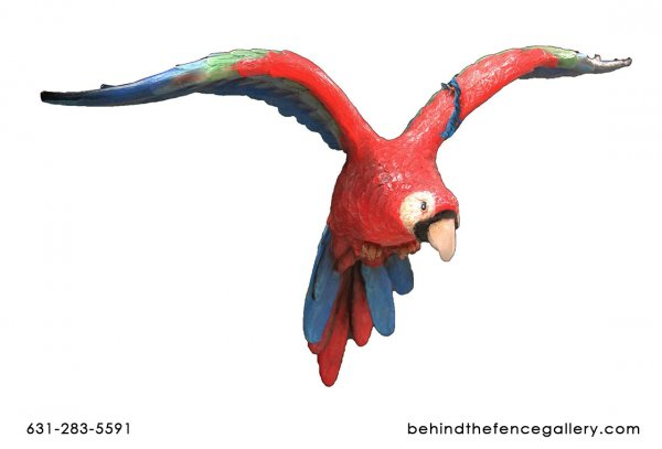 Flying Parrot Statue