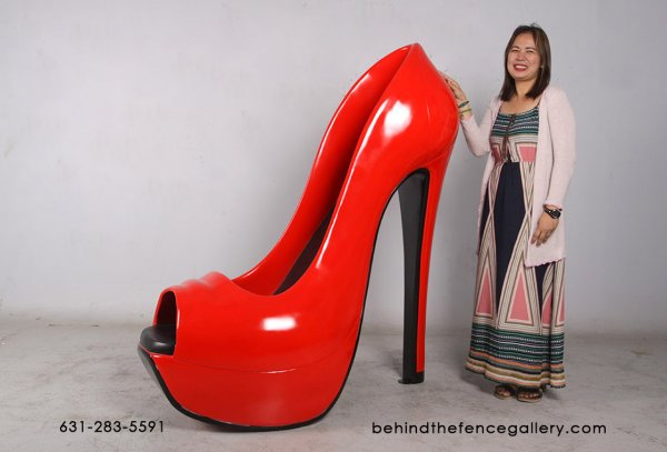 Red Stiletto Shoe Sculpture - 5ft