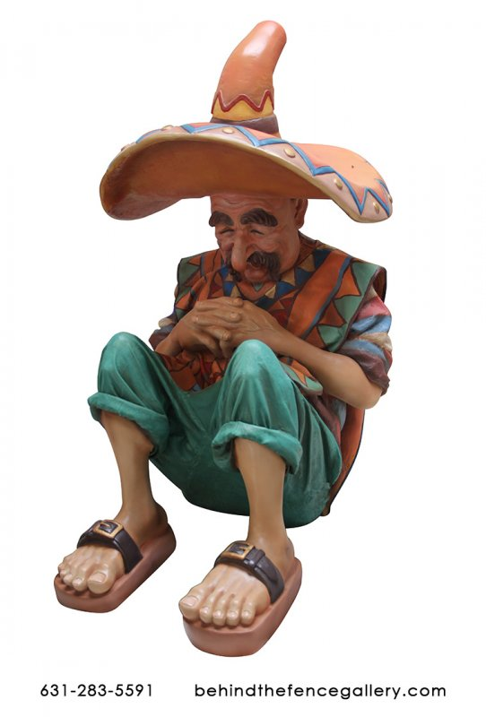 Sleeping Mexican Man Statue