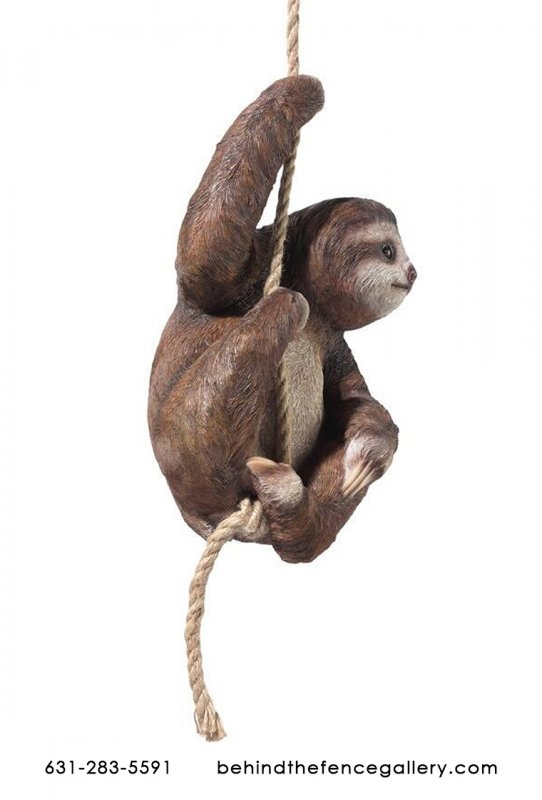 Hazelnut The Three Toed Hanging Sloth Statue