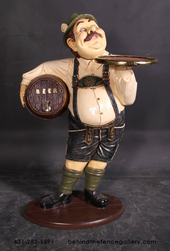 German Beer Waiter Statue