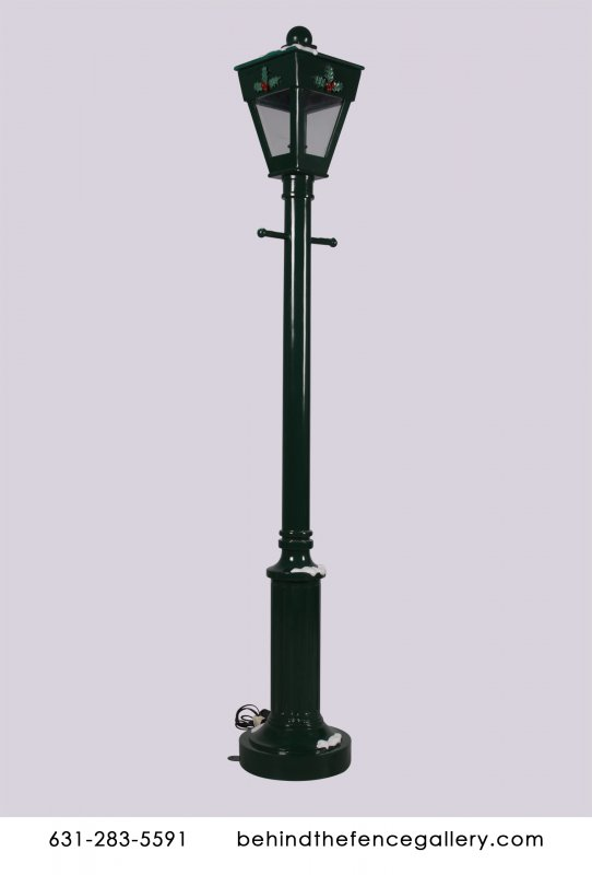 Victorian Era Light Up Street Lamp Statue