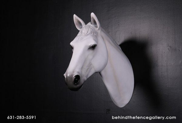 White Horse Head Wall Mount