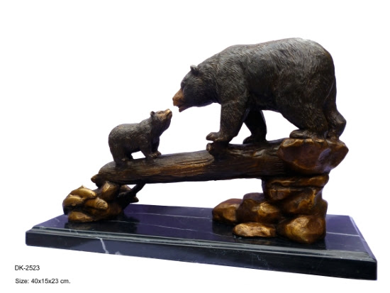 2 Bears on Log