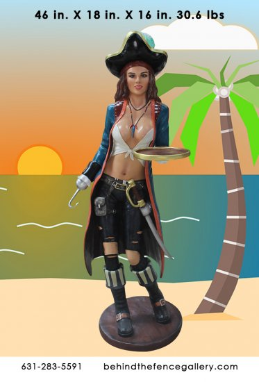 Sexy Pirate Anne Statue (3ft)