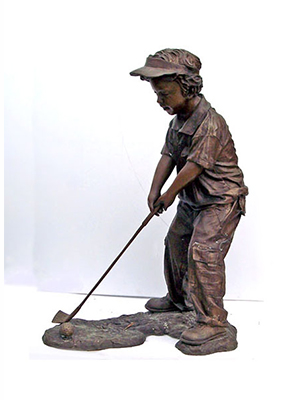 Bronze Boy Golfer