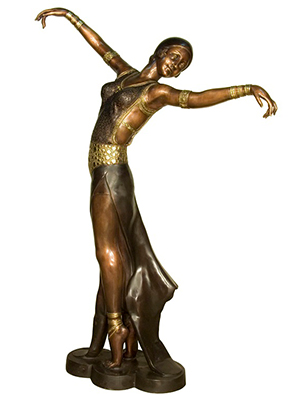 Bronze Costumed Dancer