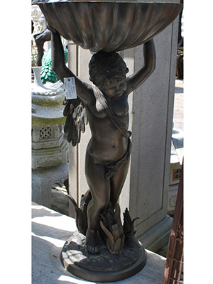 Bronze Cupid Carrying Shell Fountain