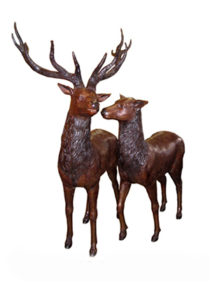 Bronze Deer pair