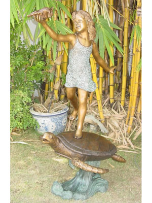 Bronze Girl on Turtle