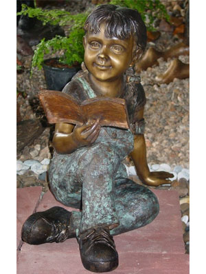 Bronze Girl Reading