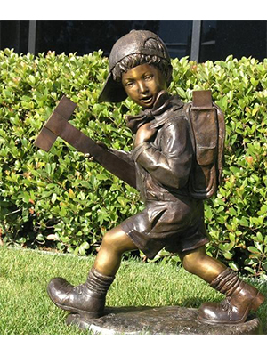Bronze Kid with Backpack
