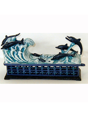 Cast Iron Mechanical Dolphin Bank