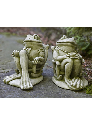 Cast Stone Frog Couple