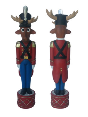 4 FT. Christmas Funny Reindeer Toy Soldier
