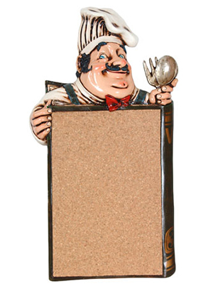 Chef Cork Pinboard