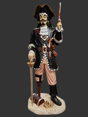 6ft. Pirate Captain with Sword