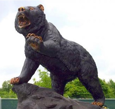 Bronze Bear on Rock